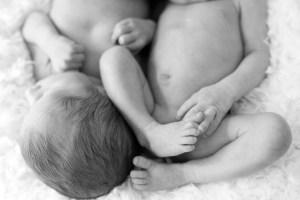 newborn twin photoshoot london legs hands