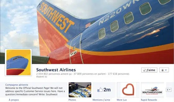page-facebook-timeline-journal-southwest-airlines