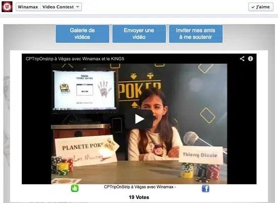 Concours Facebook Video Contest Winamax
