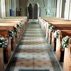 Church Flowers Wedding Midway Media