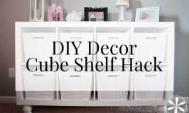 DIY Decor + Cube Shelf Hack