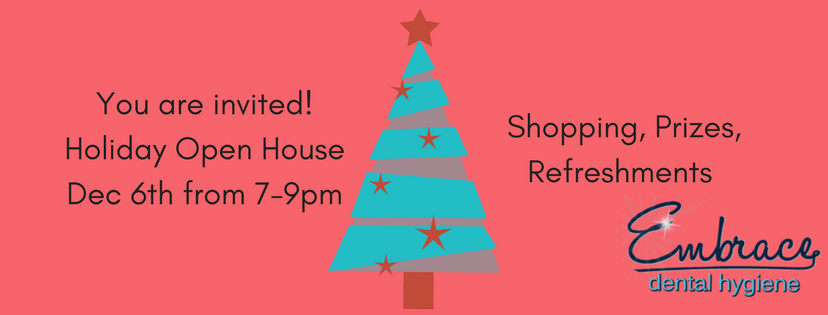 holiday open house, shopping, prizes and refreshments