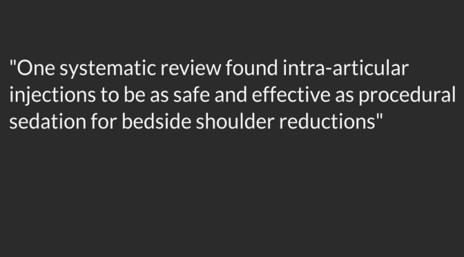 Shoulder Ultrasound: Intra-Articular Injection and Reduction