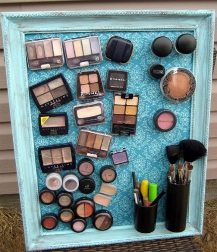 diy makeup magnet board 1 500x580 431x500 Anything for an easy life