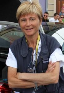 Dr. Florence Pommerie during the Tour de France 2012