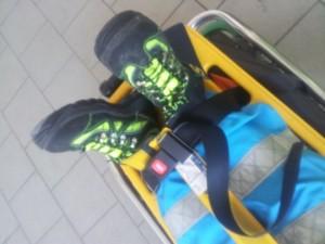 figura 2 - fermare le caviglie del paziente