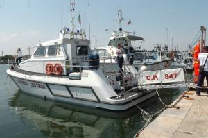 Motovedetta allestita per l'emergenza in mare