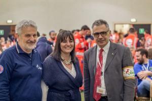 Anpasday 2016 - Lorenzo Risso (pres. ANPAS Liguria) - Sonia Viale - Fabrizio Pregliasco (Pres ANPAS Nazionale)
