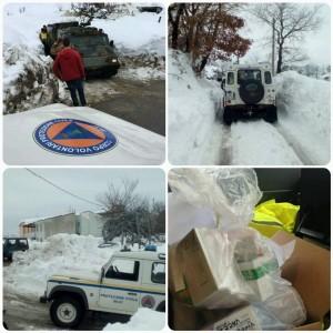 Immagini dalla Protezione Civile di Silvi, in azione