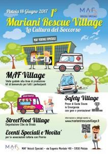 La locandina del Mariani Rescue Village