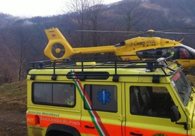 H145 e land rover servizio regionale soccorso alpino