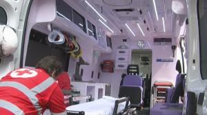 Una ambulanza Orion con sistema Pure Health