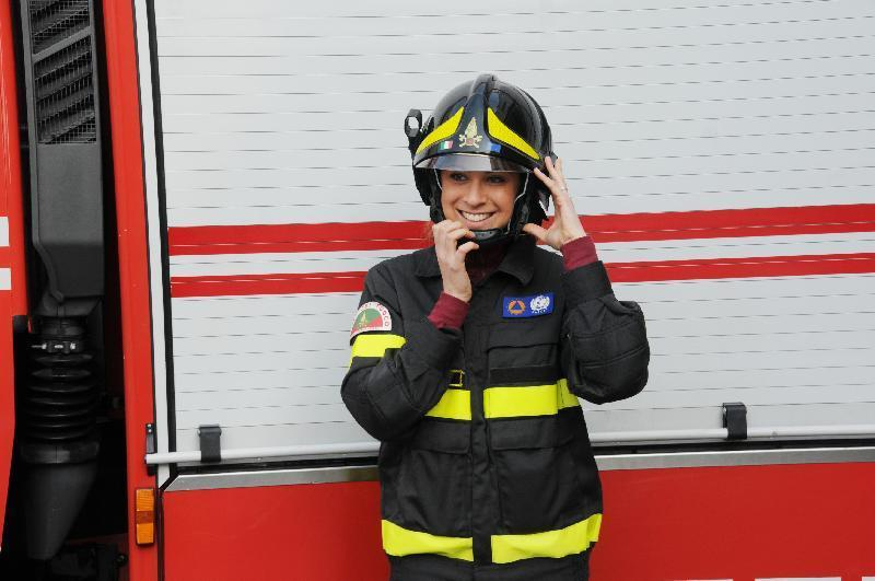 Silvia Rossi, prima donna nei vigili del fuoco di Rovigo