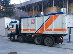 Veicolo di soccorso di Protezione civile della Croce Bianca di Bolzano