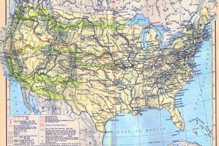 united states map 1900
