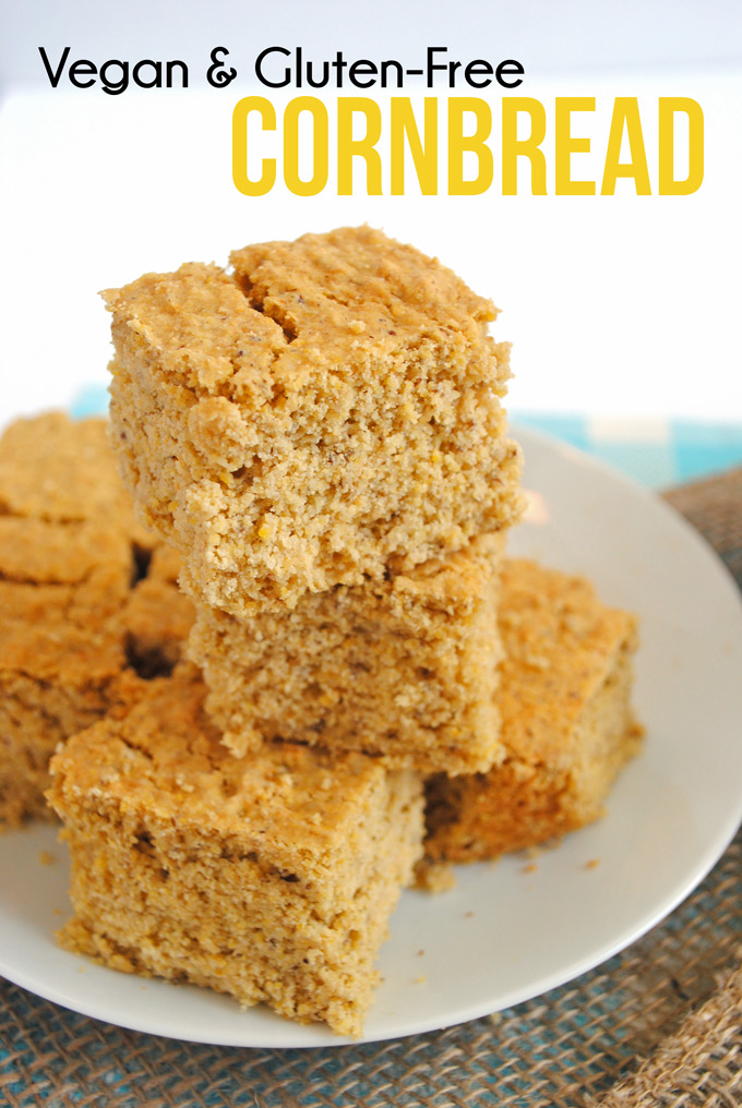 This healthy cornbread is vegan, gluten-free, & perfect as a side dish ...
