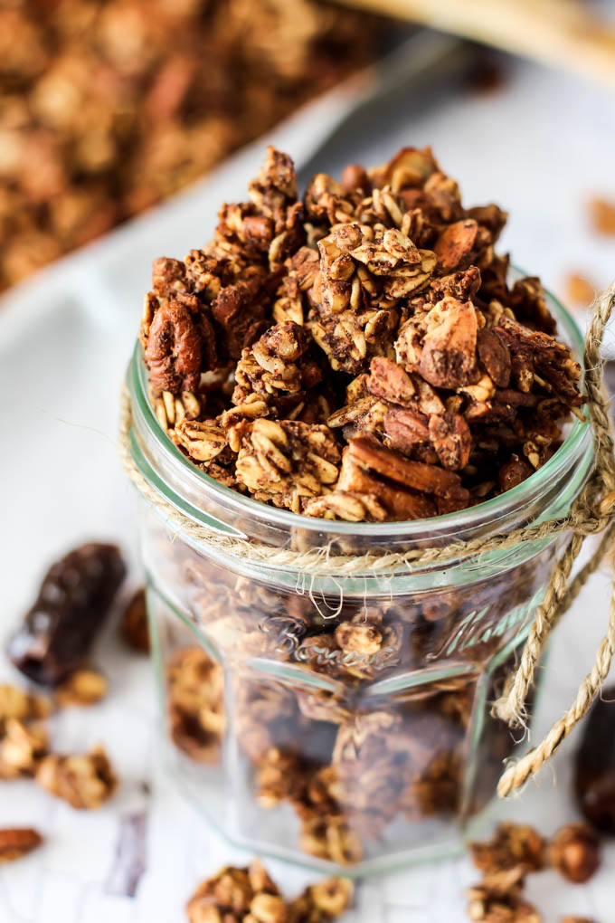 Chai Spice Granola (oil-free & date-sweetened) | Emilie Eats