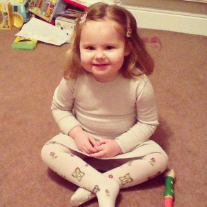 White company toddler dress