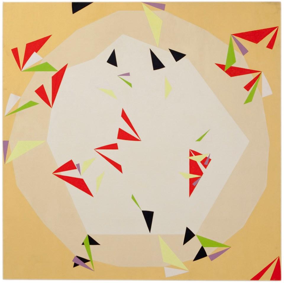 NATALIE DOWER Octadecagon 1, 1995, oil on canvas, 180 x 180cm