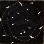 NATALIE DOWER Dodecagon with Curved Path, 2007, oil on canvas, 91.5 x 91.5cm