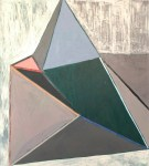 WENDY ANDERSON Blue triangle, 2014, 76 x 78 cm, collage and oils on canvas