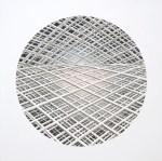 HARRIET MENA HILL Pale Burn, 2013, oil on gesso, 50 x 50cm