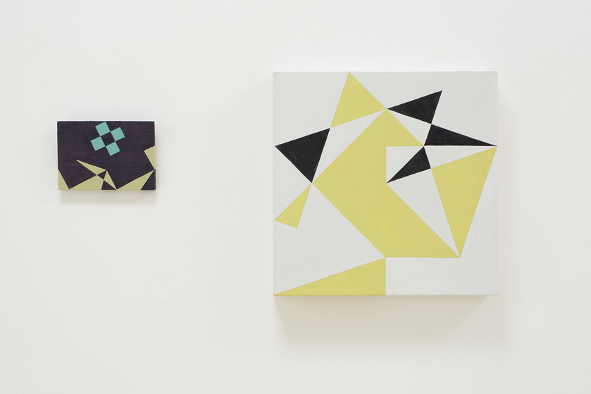 NATALIE DOWER Spin Off, 2015 & Three Triangle Series Five colours, 2015