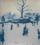 REBECCA SITAR Park life, 2013, oil on paper, 31 x 28cm