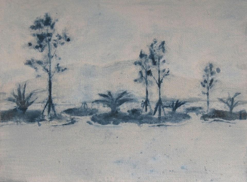 REBECCA SITAR Promenade (Split), 2013, oil on paper, 28 x 33 cm