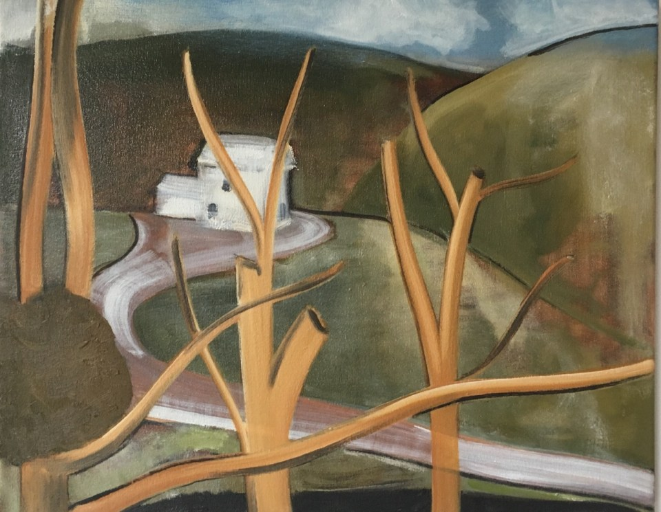 Current Exhibition: PETER ASHTON JONES NAIVE AND SENTIMENTAL PAINTING 8 February - 9 March 2018 Image: A Local Habitation, 2016