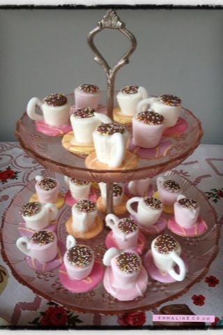 Marshmallow tea cups by Amy Brown.