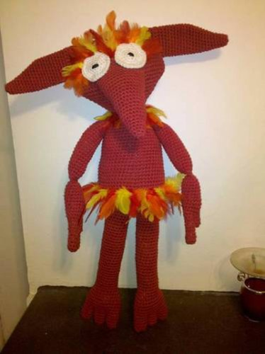 Crochet fiery from the Labyrinth movie