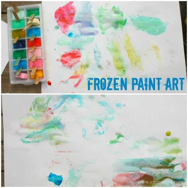 Painting with Ice - Frozen Paint Art