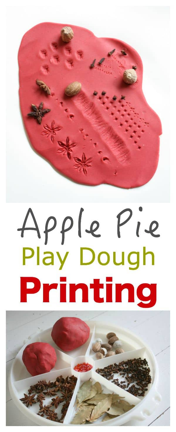 kids activity play dough and spice printing emma owl