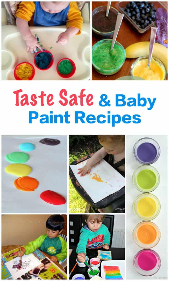 Baby and Taste Safe Recipes - for playing - painting and eating. All Edible - some tasty
