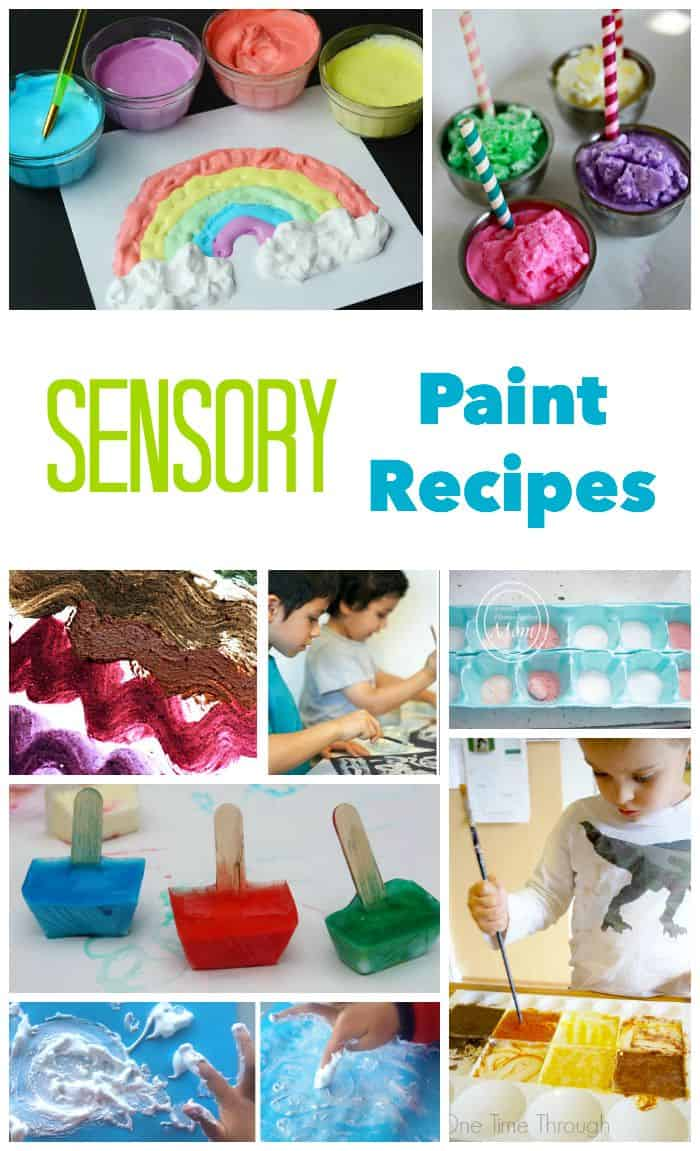 DiY Sensory Paint Recipes for sensory play and painting. Taste - Touch - Smell - See - it is all here!