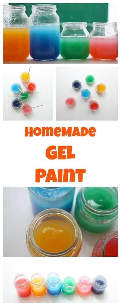 HomeMade Gel Paint. This recipe is so easy to make and a fraction of the cost of store bought equivalents!