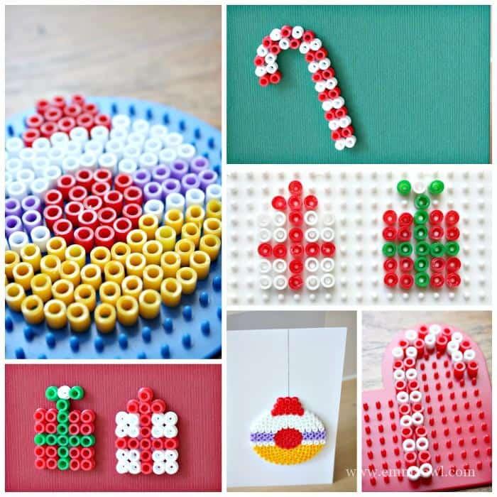 Hama Bead Christmas Greeting Cards