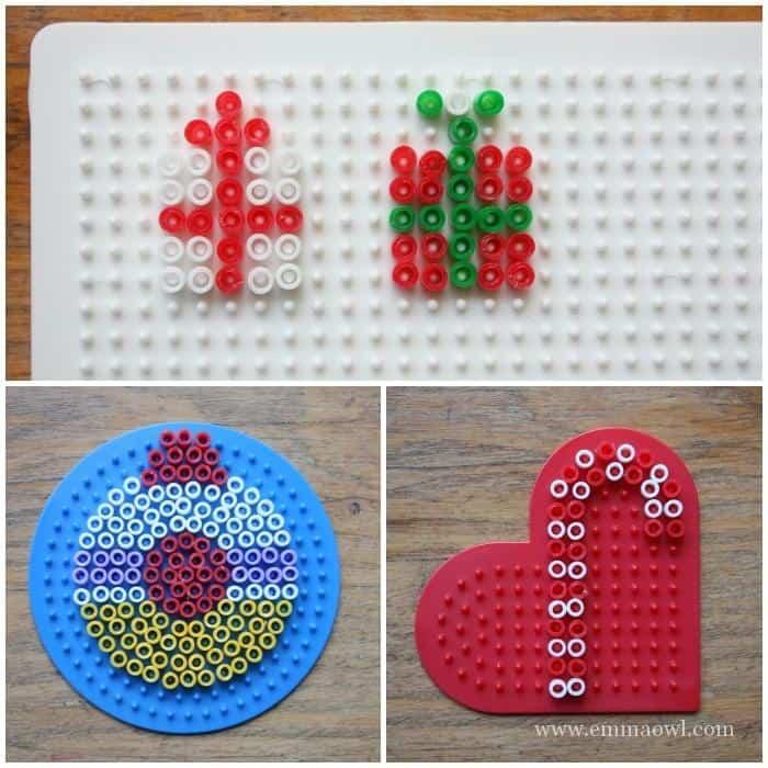 How to make Hama Bead Christmas Cards