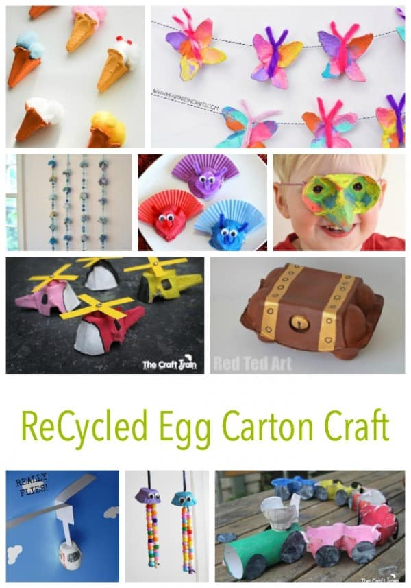 30 + ReCycled Egg Carton Crafts for kids to enjoy