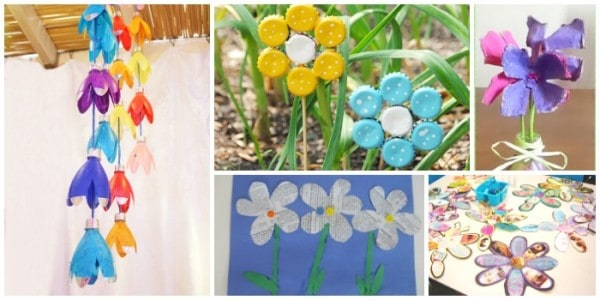 Recycled Spring Crafts For Kids Flowers Emma Owl