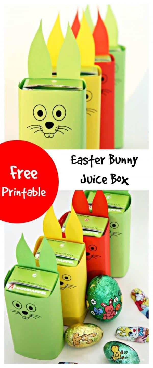 easter bunny juice box free printable emma owl