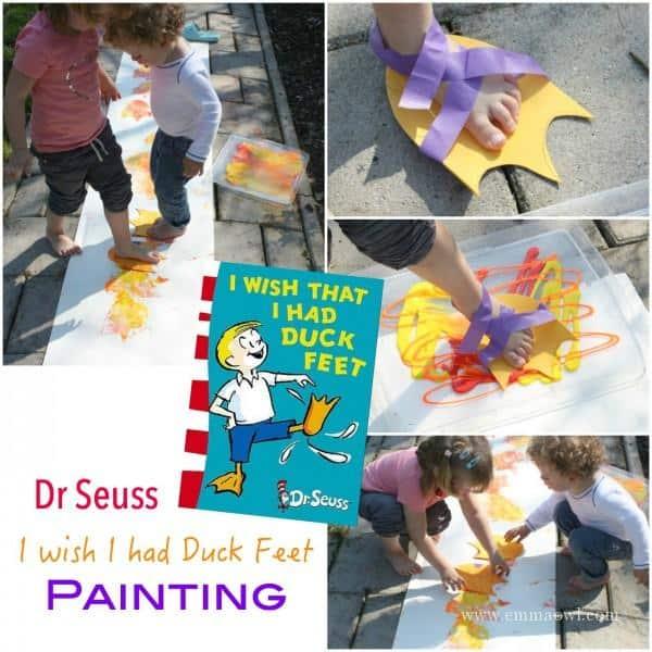 Dr Seuss - I wish I had Duck Feet Painting