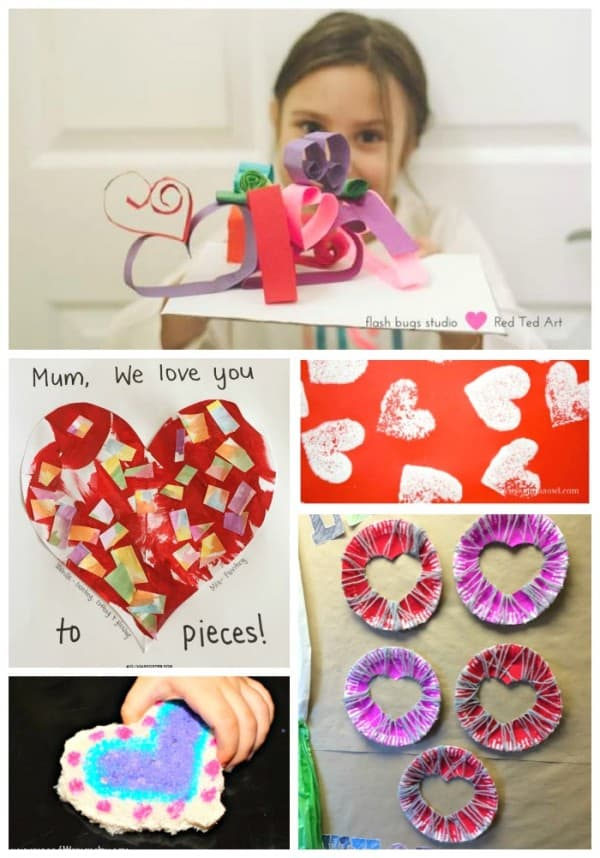 easy quick Valentines Day Ideas for children to make