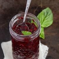 Blackberry Basil Chia Jam