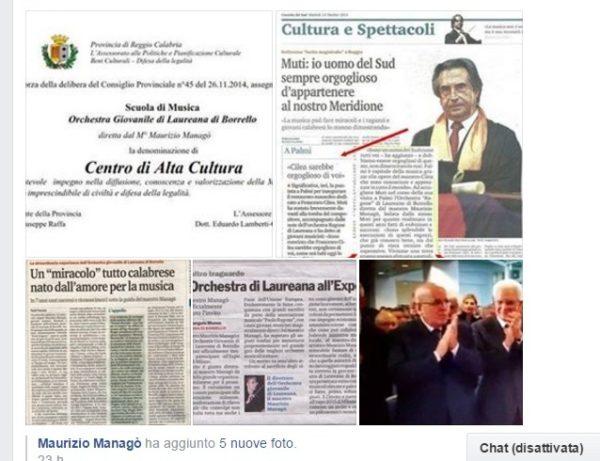 Scandalo a Laureana di Borrello Maurizio Managò Postato su Facebook il 6 Gennaio 2017 Aggiornamento alle ore 22 del 7 Gennaio ANCHE I SOGNI SONO DESTINATI A SVANIRE.. E' giusto che l'opinione pubblica sia al corrente dell'accaduto: