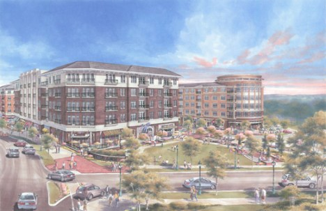 An artist rendering of the Emory Point development.