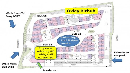 Direction to Oxley Bizhub