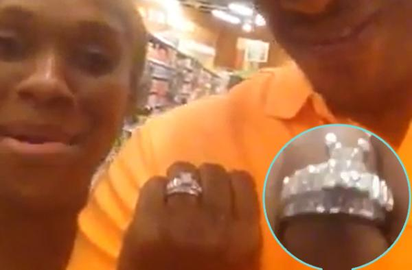 Damita Haddon shows off her engagement ring from new fiance' Reuben Chandler