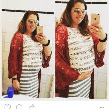 Maternity outfit Bershka Ibuza H&M Ray Ban